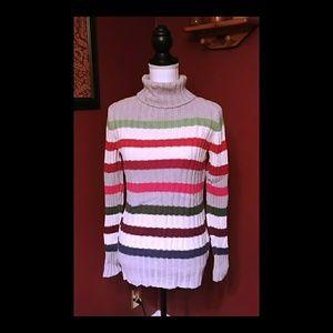Sonoma multicolored striped sweater